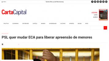 PSL quer mudar ECA para liberar apreensão de menores