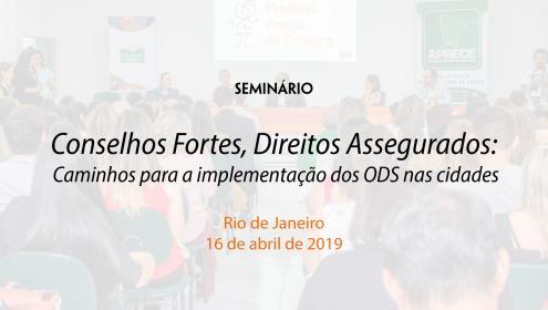 Seminário Rio de Janeiro, Conselhos fortes, direitos assegurados, Caminhos para Implementação dos ODS nas cidades