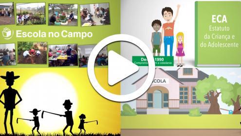 Fundação Abrinq produz vídeos para aprimorar as ações dos professores no Projeto Escola no Campo